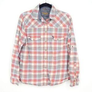 Jachs Girlfriend Pearl Snap Flannel Shirt  (W14)